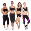 Group of fitness women — Foto Stock