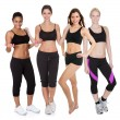 Group of fitness women — Photo