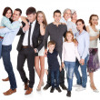 Several families with kids and couples — Stock Photo
