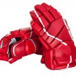 Pair of hockey gloves - Stock Photo