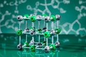 Modell av nacl molekylstruktur — Stockfoto