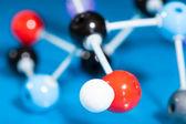 Modell av molekylärt strukturerar — Stockfoto