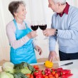 Royalty-Free Stock Photo: Senior Couple Toasting Wine
