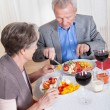 Senior Couple Enjoying Dinner Together — Stock Photo