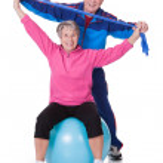 Portrait Of A Senior Couple Exercising — Stock Photo