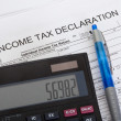 Stock Photo: Income tax declaration