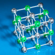 Model of NaCl molecular structure — Stock Photo