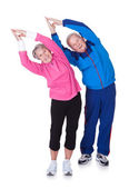 Portrait Of A Senior Couple Exercising — Stock Photo