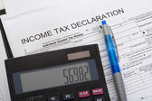 Income tax declaration — Stock Photo