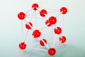 Model of copper molecular structure — Stock Photo