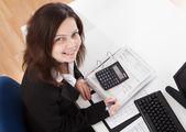Portrait Of Happy Businesswoman — Stock Photo