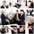 Set of various business images — Stock Photo #22740931