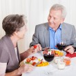 Senior Couple Enjoying Dinner Together — Stock Photo #22741301