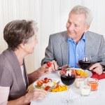 Senior Couple Enjoying Dinner Together — Stock Photo