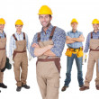 Portrait of happy construction workers — Stock Photo #22741397