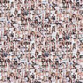 Grande conjunto de várias imagens de negócios — Foto Stock