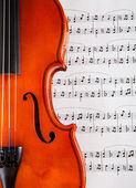 Violin And Musical Notes — Stock Photo