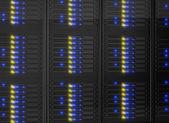 Närbild på serverrack — Stockfoto