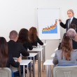 Portrait Of A Senior Manager Giving Presentation — Stock Photo