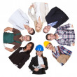 Low angle view of diverse professional group — Stock Photo #23078434