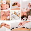 Collection of spa images — Stockfoto