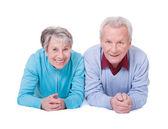 Portrét šťastný starší pár — Stock fotografie
