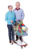 Senior Couple Shopping Vegetables — Stock Photo
