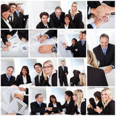 Set of various business images — Stock Photo