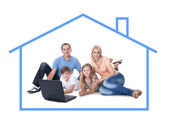 Conceptual image of family at home — Stock Photo