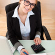 Businesswoman Working In Office - Stock Photo