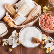 Bathing Spa Kit With Sea Salt - Stock Photo