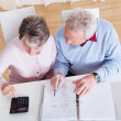 Stock Photo: Senior Couple Calculating Budget