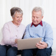 Senior Couple Looking At Laptop Computer — Stock Photo