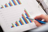 Close-up Of Financial Graph — Stock Photo