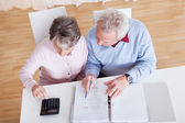 Senior Couple Calculating Budget — 图库照片