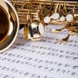 Trumpet And Musical Note - Stock Photo
