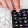 Close-up Of Hand With Calculator - Stock Photo