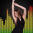 Young Woman Dancing — Stockfoto