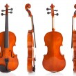 Vintage Violin From Four Sides — Photo