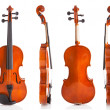 图库照片: Vintage Violin From Four Sides