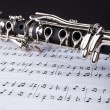 Clarinet And Musical Note — Stock Photo