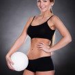 Young Woman Holding Ball — Stock Photo #23871271
