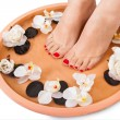 Female Feet Getting Aroma Therapy — Stock Photo