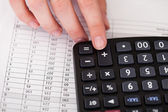 Close-up Of Hand With Calculator — Stock Photo