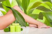 Mooie vrouw benen in spa — Stockfoto