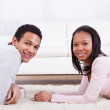 African Couple Holding Hands — Stock Photo #24298015