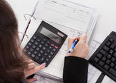 Close-up Of Accountant Woman — Stock Photo