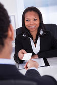 Businesspeople Exchanging Visiting Card — Stock Photo