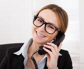Businesswoman Talking On Telephone — Stock Photo