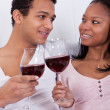 Couple Toasting Wine — Stock Photo